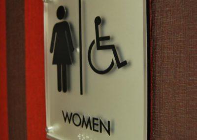 Women Washroom Signage ADA Signage